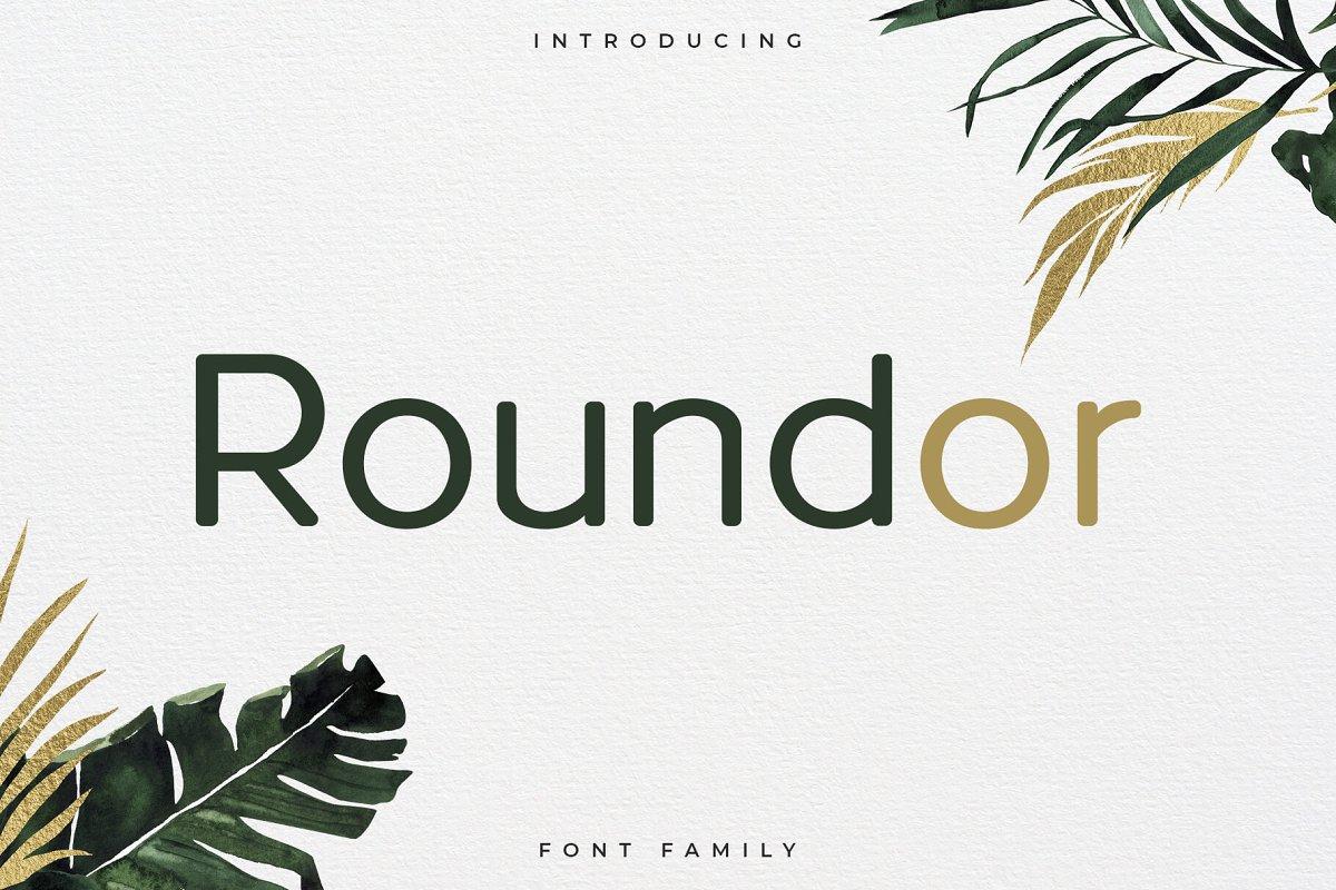 Roundor Font Family - Sans Serif