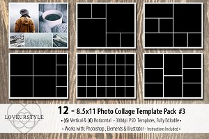 8.5x11 Photo Album Template Pack 3