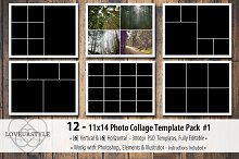 11x14 Photo Collage Template Pack 1