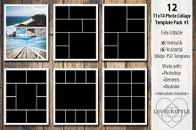 11x14 Photo Collage Template Pack 3