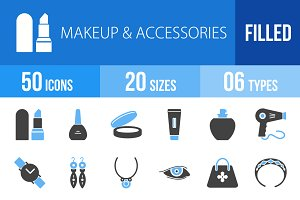 50 Makeup & Accessories Blue & Black