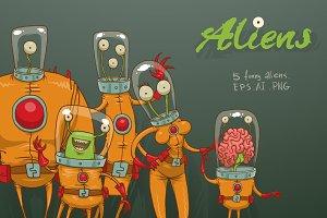 Aliens bundle, vector