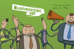 Businessmen set, vector
