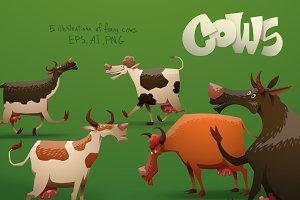 Cows bundle,  vector