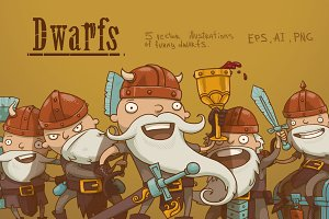 Dwarfs bundle, vector
