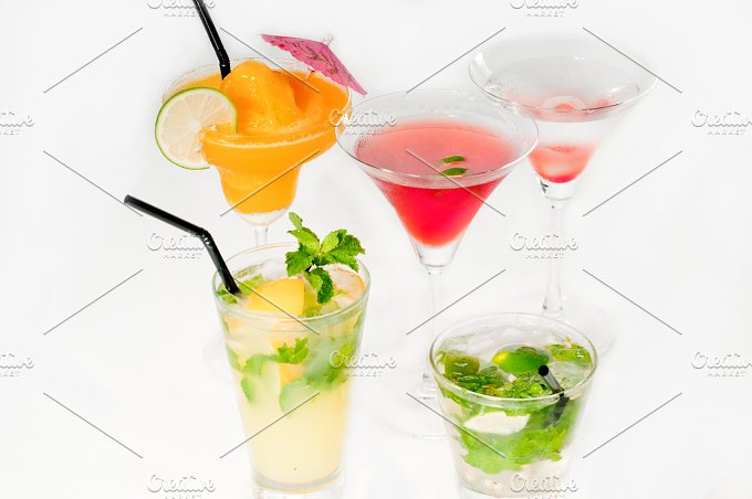 selectionn of colorful cocktails 01.jpg - Food & Drink