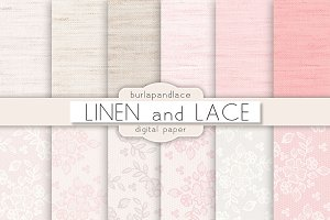Linen and lace pattern