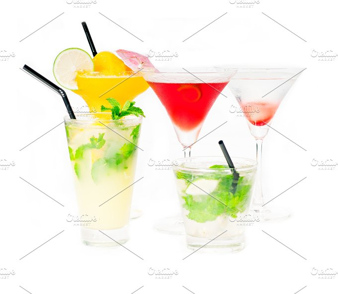 selectionn of colorful cocktails 03.jpg - Food & Drink