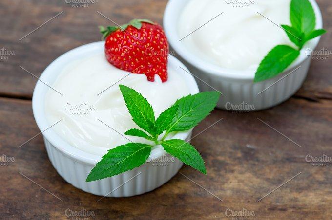 organic Greek yogurt and strawberries 004.jpg - Food & Drink