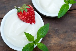 organic Greek yogurt and  strawberries 005.jpg