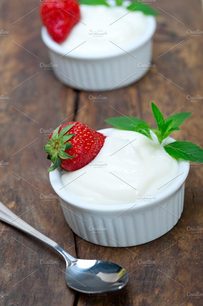 organic Greek yogurt and strawberries 008.jpg - Food & Drink