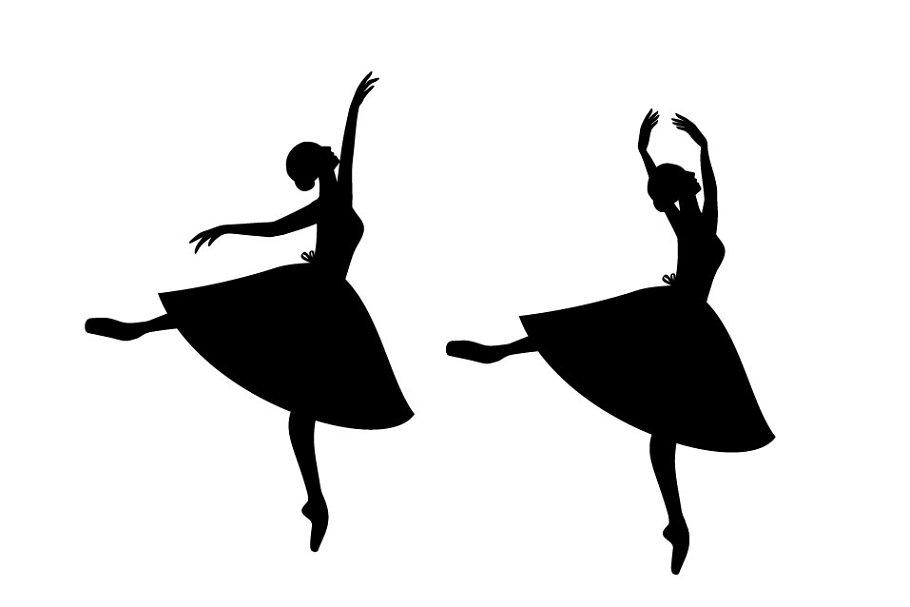 Cartoon Silhouette Ballerina Vector Pre Designed Vector Graphics Creative Market