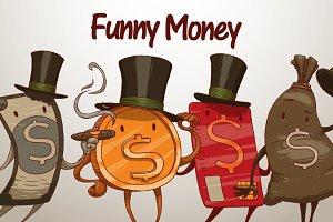 Funny money bundle, vector