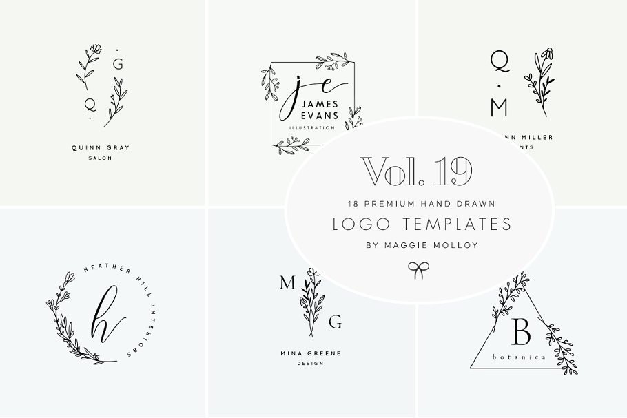 Feminine Premade Logo Bundle Vol. 19