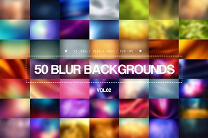 50 Blur Backgrounds - Vol.02