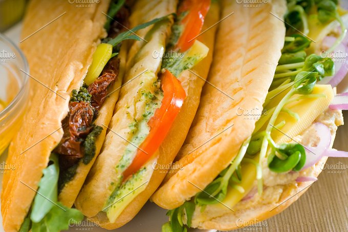 mix italian panini sandwich 4.jpg - Food & Drink