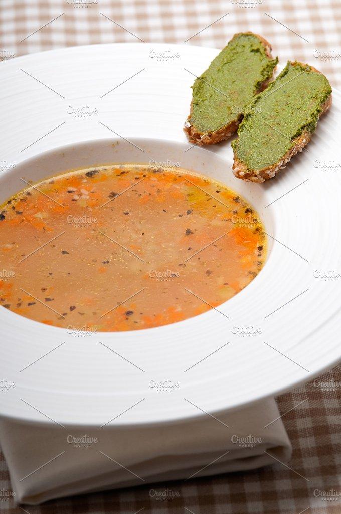 minestrone soup with pesto crostini on side 30.jpg - Food & Drink
