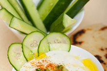 Maast o Khiar Arab cucumber goat yogurt salad 020.jpg