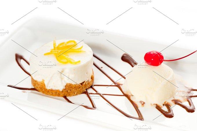 lemon mousse with vanilla ice cream 03.jpg - Food & Drink