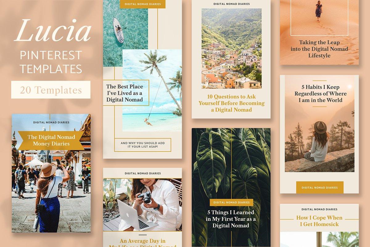Lucia Pinterest Template Pack