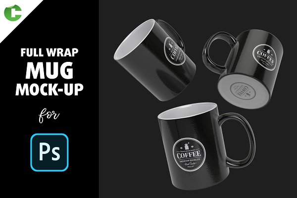 Full Wrap Mug Mock-up