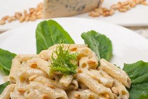 Italian pasta penne gorgonzola  and pine nut 05.jpg
