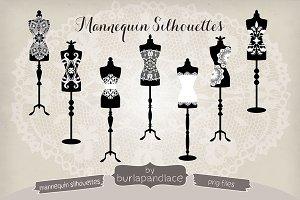 Vintage mannequin silhouettes