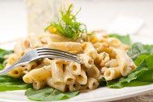 Italian pasta penne gorgonzola  and pine nut 08.jpg