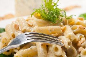 Italian pasta penne gorgonzola  and pine nut 09.jpg