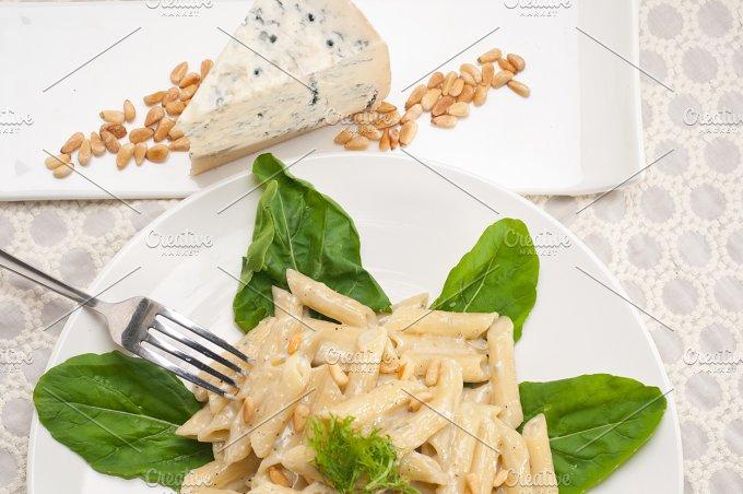 Italian pasta penne gorgonzola and pine nut 14.jpg - Food & Drink
