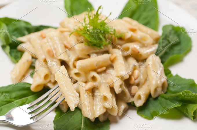 Italian pasta penne gorgonzola and pine nut 16.jpg - Food & Drink