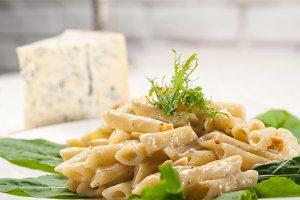 Italian pasta penne gorgonzola  and pine nut 19.jpg