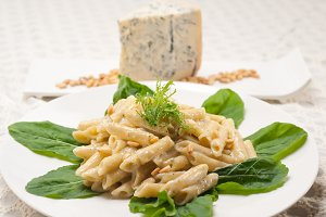 Italian pasta penne gorgonzola  and pine nut 26.jpg