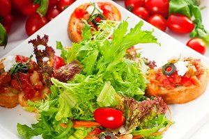 Italian bruschetta and fresh salad 02.jpg