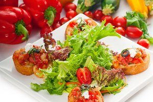 Italian bruschetta and fresh salad 01.jpg
