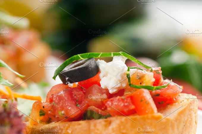 Italian bruschetta and fresh salad 07.jpg - Food & Drink