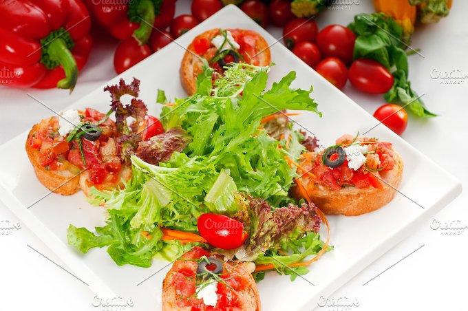Italian bruschetta and fresh salad 05.jpg - Food & Drink