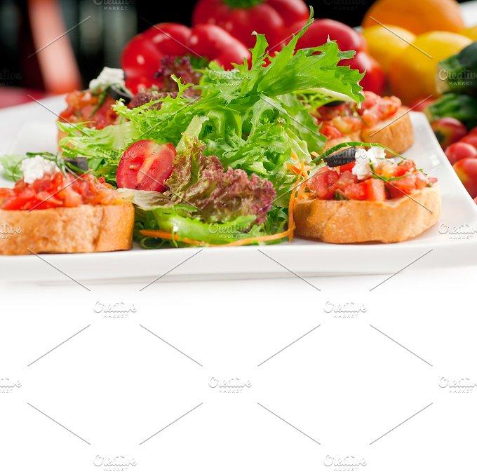 Italian bruschetta and fresh salad 12.jpg - Food & Drink