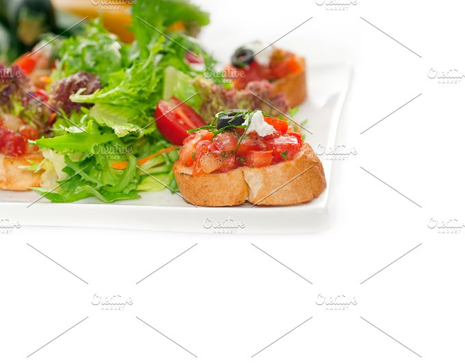 Italian bruschetta and fresh salad 13.jpg - Food & Drink