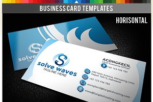 Premium Business Card - Solve Waves