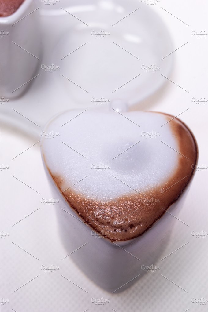 heart shaped cups of coffe 04.jpg - Food & Drink