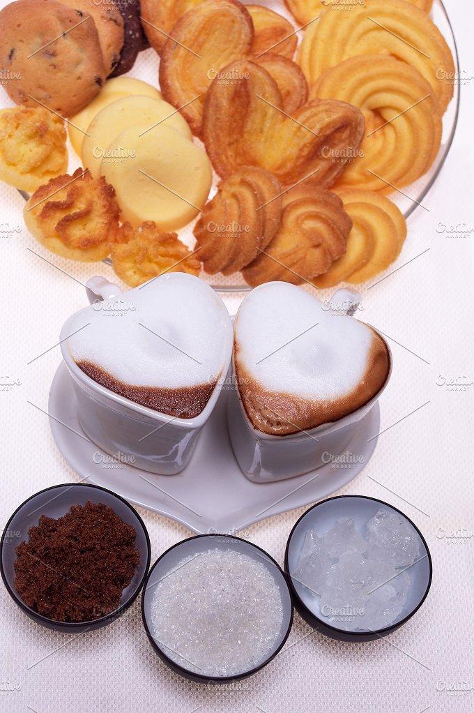 heart shaped cups of coffe 06.jpg - Food & Drink