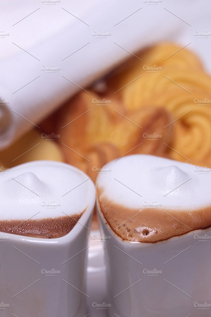 heart shaped cups of coffe02.jpg - Food & Drink