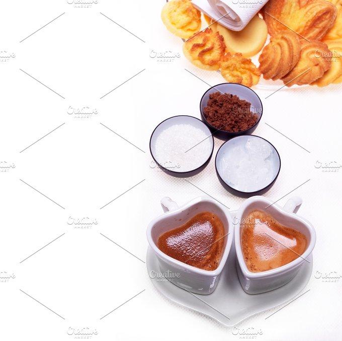 heart shaped cups of coffe 09.jpg - Food & Drink