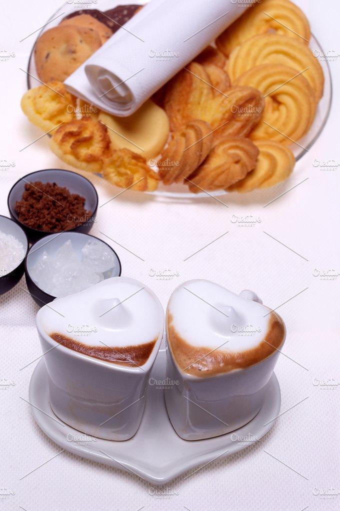 heart shaped cups of coffe11.jpg - Food & Drink