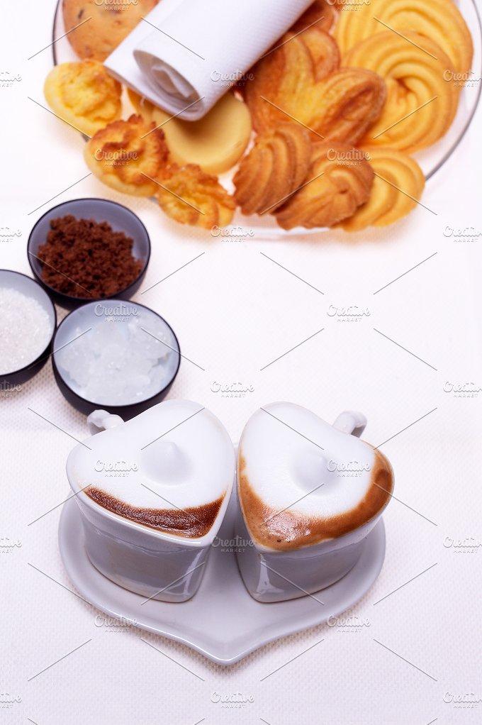 heart shaped cups of coffe12.jpg - Food & Drink