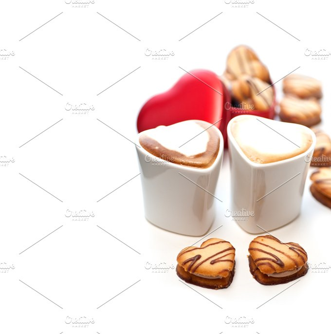 heart cookies and cappuccino 21.jpg - Food & Drink