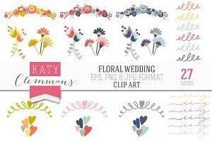 Floral Wedding Clip Art