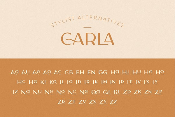 Carla Sans -Elegant Typeface