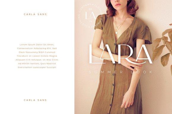 Carla Sans -Elegant Typeface in Sans-Serif Fonts - product preview 7